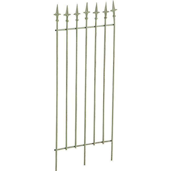 CLP Metall-Rankgitter ELISA I Größe: 100 x 50 cm, Stabstärke 0,7 cm I Rankhilfe für Kletterpflanzen I In verschiedenen Farben erhältlich... antik-grün - Bild 1