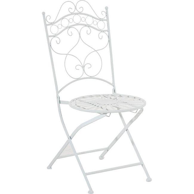 CLP Eisenstuhl INDRA im Jugendstil I Antiker handgefertigter Gartenstuhl I In verschiedenen Farben erhältlich - Bild 1