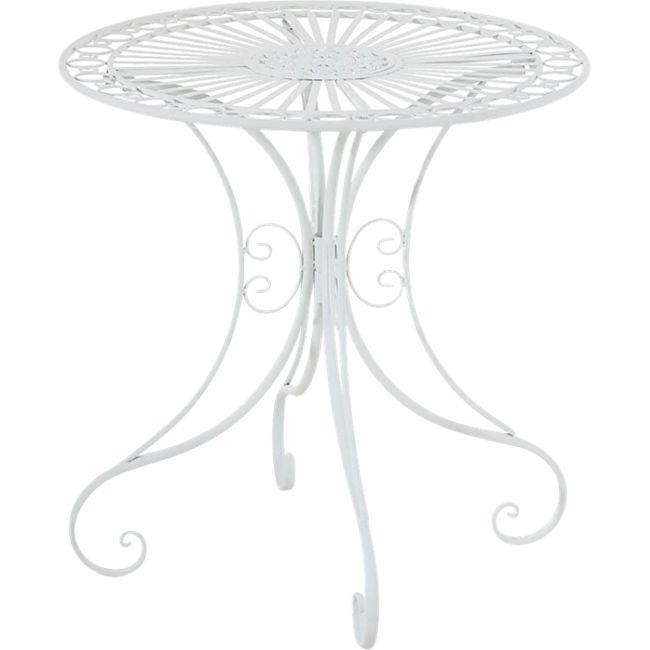 CLP Eisentisch HARI im Jugendstil I Gartentisch mit kunstvollen Verzierungen I In verschiedenen Farben erhältlich... weiß - Bild 1