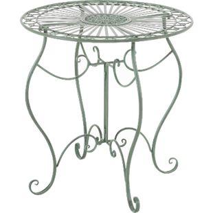 CLP Eisentisch INDRA in nostalgischem Design I Gartentisch mit geschwungenen Beinen I In verschiedenen Farben erhältlich... antik-grün - Bild 1