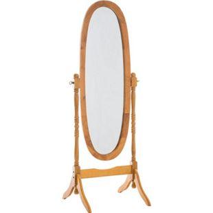 CLP Holz-Standspiegel Cora I Ovaler freistehender Spiegel im Landhausstil I Neigbarer Ganzkörperspiegel mit Holzgestell I Größe 150 x 60 cm - Bild 1