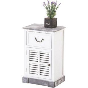 CLP Holzkommode MEKONG im Landhausstil I Holzschrank mit einer Schublade und einer luftdurchlässigen Tür - Bild 1