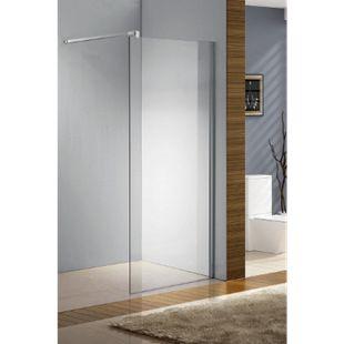 CLP Edelstahl-Duschabtrennung, NANO Glas, Haltestange: QUADRATISCH (bis zu 3 Glasfarben und 20 Größen wählbar) - Bild 1
