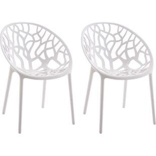 CLP 2er-Set Gartenstuhl HOPE aus Kunststoff I 2x Wetterbeständiger Stapelstuhl mit einer max. Belastbarkeit von: 150 kg I In verschiedenen Farben erhältlich - Bild 1