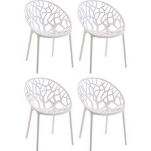 CLP 4er-Set Design-Gartenstuhl HOPE aus Kunststoff I 4x Wetterbeständiger Stapelstuhl mit einer maximalen Belastbarkeit von 150 kg I In verschiedenen Farben erhältlich - Bild 1