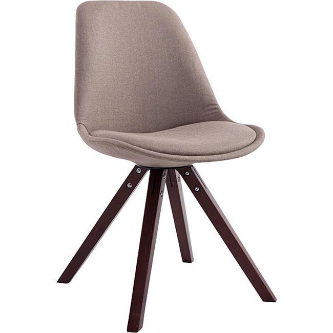 CLP Retro-Stuhl Toulouse Square Mit Stoffbezug Und Hochwertigem Sitzpolster I Lehnstuhl Mit Stabilem Holzgestell I Sitzhöhe 48 cm - Bild 1