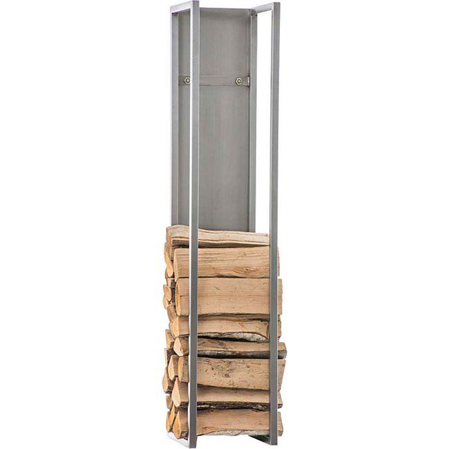 CLP Kaminholzregal SPARK I Brennholzregal aus Edelstahl I Holzbutler in verschiedenen Größen und Farben erhältlich... edelstahl, 80 cm - Bild 1