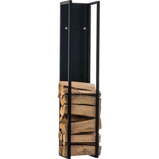 CLP Kaminholzregal SPARK I Brennholzregal aus Edelstahl I Holzbutler in verschiedenen Größen und Farben erhältlich - Bild 1