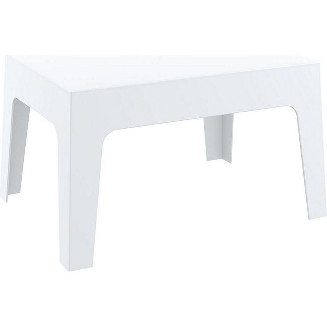 CLP Gartentisch Box Kunststoff I Stapelbarer Beistelltisch I Wetterfester Outdoor-Tisch... weiß - Bild 1