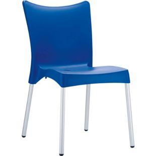 CLP XXL-Gartenstuhl JULIETTE I Stapelstuhl mit Kunststoffsitz und Aluminiumgestell I Outdoor-Stuhl bis zu 160 kg belastbar I In verschiedenen Farben erhältlich - Bild 1