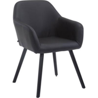 CLP Esszimmerstuhl ACHAT V2 mit Kunstlederbezug, Polsterstuhl mit Armlehne, Sitzfläche gepolstert, mit Bodenschonern, ma