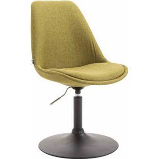 CLP Esszimmerstuhl MAVERICK Stoff I höhenverstellbarer Lehnstuhl I Drehstuhl mit Trompetenfuß I Sitzhöhe von ca. 43 - 48 cm... grün, Schwarz - Bild 1