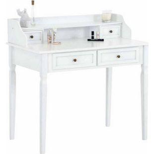 CLP Schminktisch BETTY aus Pinienholz I Tisch mit vier Schubladen I Frisierkommode in bis zu drei Farben - Bild 1