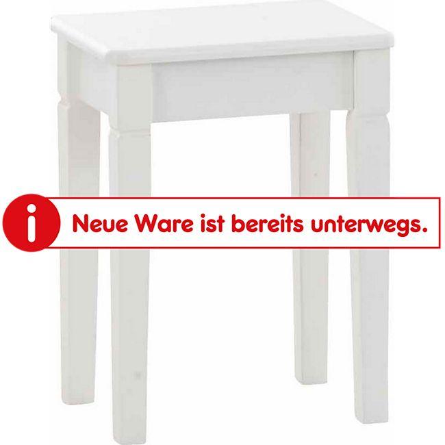CLP Sitzhocker LELIA aus robustem Birkenholz I Standfestes 4-Fußgestell I Angenehme Sitzhöhe von 45 cm - Bild 1