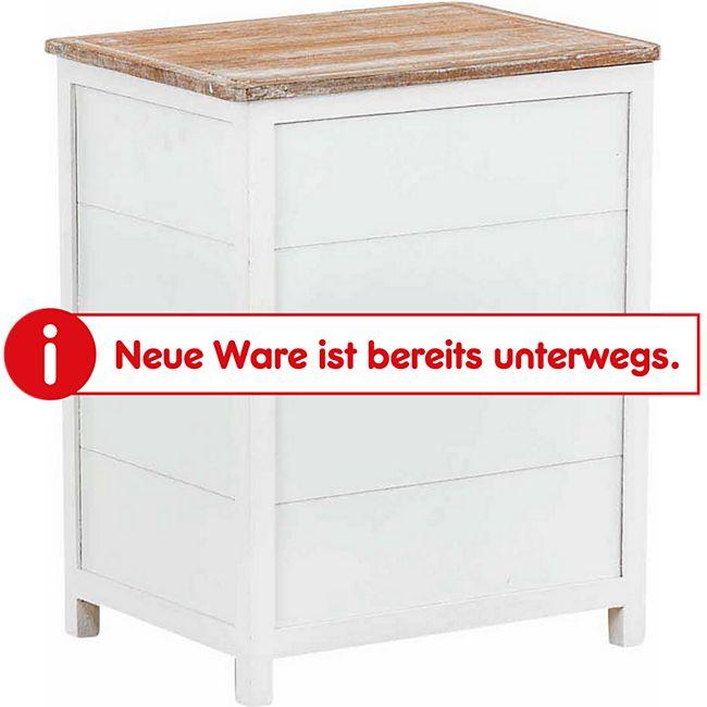 CLP Wäschebehälter LINO aus Holz I Wäschebox mit zwei Fächern I Wäschetruhe im Landhausstil - Bild 1