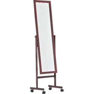 CLP Holz-Standspiegel YOLANDA mit Laufrollen I Schlichter Garderobenspiegel aus lackiertem Holz I In verschiedenen Farben erhältlich - Bild 1