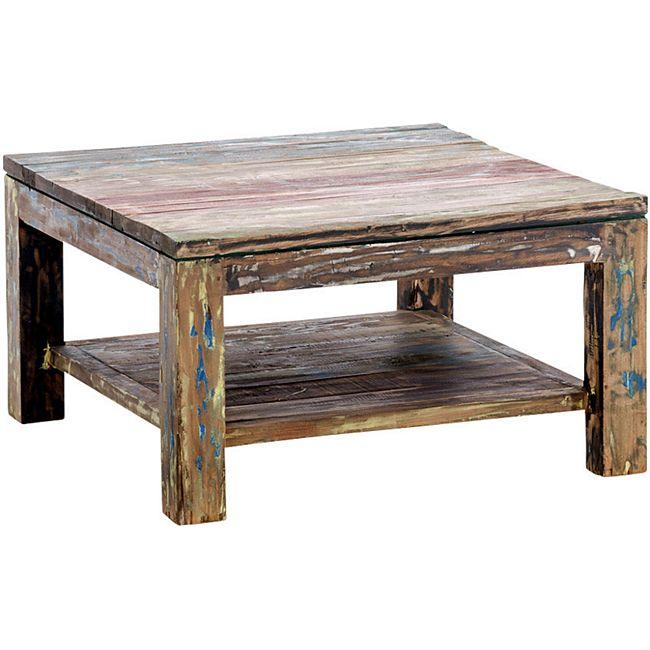 clp couchtisch anton aus massivem recyceltem teakholz beistelltisch aus fundholz. Black Bedroom Furniture Sets. Home Design Ideas
