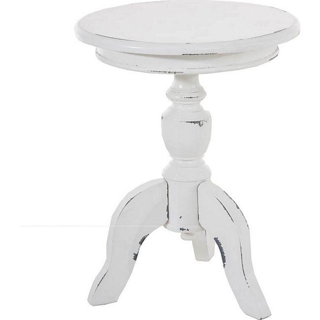 CLP Holztisch CAROLINE mit runder Tischplatte I Beistelltisch im ...