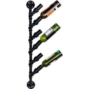 CLP Wand-Flaschenhalter im Industrial-Look I Weinbar für 6-8 Flaschen I Deko-Bar zur Wandmontage - Bild 1