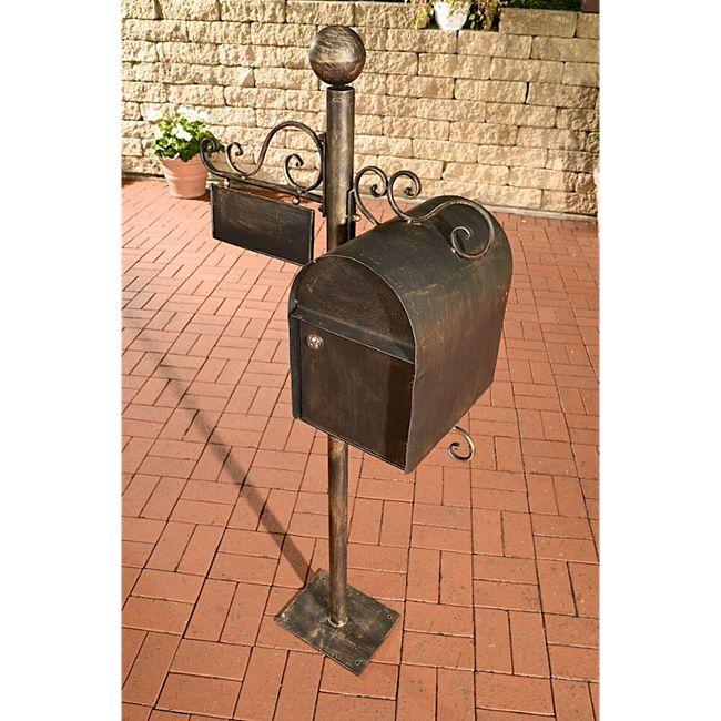 CLP Stand-Briefkasten CHARLIZE I Antiker freistehender Briefkasten mit Namensschild I Briefkasten aus Eisen I In verschiedenen Farben erhältlich - Bild 1