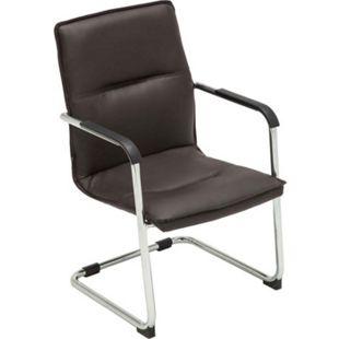 CLP Freischwinger SEATTLE mit Armlehne I Konferenzstuhl mit hochwertiger Polsterung und Kunstlederbezug... braun - Bild 1