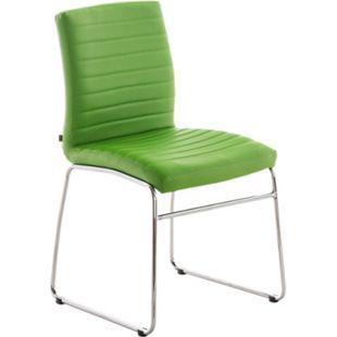 CLP Esszimmerstuhl Lea Kunstleder | Küchenstuhl Mit Polsterung | Sitzhöhe: 47 CM | In Vielen Farben... grün - Bild 1