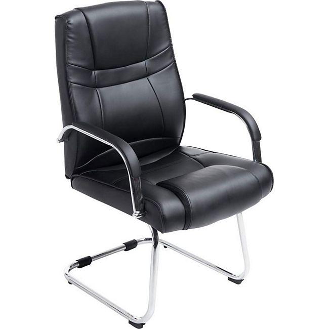 clp xxl freischwinger attila mit metallgestell und armlehne i b rostuhl mit kunstlederbezug und. Black Bedroom Furniture Sets. Home Design Ideas