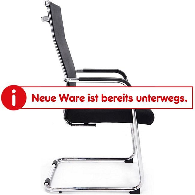 CLP Freischwinger BRENDA mit Armlehne und Netzbezug I Bürostuhl mit Bodenschonern I In verschiedenen Farben erhältlich