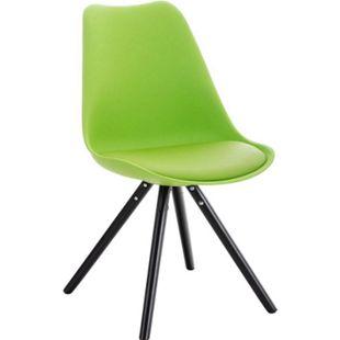 CLP Retrostuhl PEGLEG mit hochwertiger Polsterung und Kunstlederbezug I Schalenstuhl mit Holzgestell und einer Sitzhöhe von: 46 cm - Bild 1