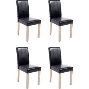 CLP 4 x Esszimmerstuhl Ina Mit Kunstlederbezug Und Sitzpolsterung I 4 x Lehnstuhl Mit robustem Holzgestell - Bild 1