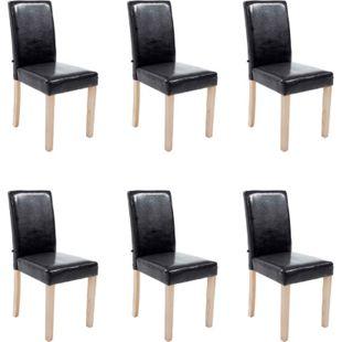 CLP 6x Esszimmerstuhl INA mit Holzgestell und Kunstlederbezug I 6x Lehnstuhl mit einer Sitzhöhe von 47 cm I In verschiedenen Farben erhältlich - Bild 1