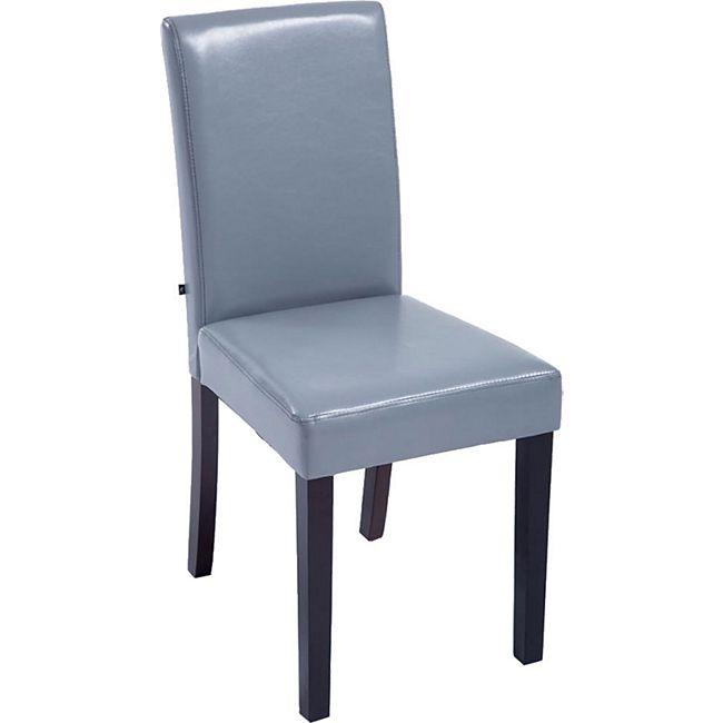 CLP Esszimmerstuhl INA mit stabilem Holzgestell und Kunstlederbezug   Lehnstuhl mit einer Sitzhöhe von 47 cm   In verschiedenen Farben erhältlich - Bild 1