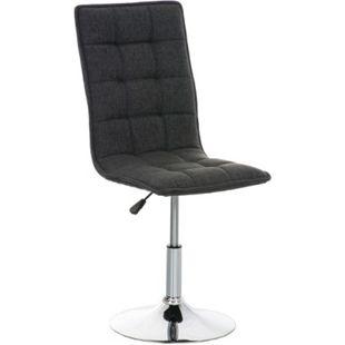 CLP Esszimmerstuhl PEKING mit Stoffbezug   Loungesessel mit Metallgestell in Chrom-Optik   Höhenverstellbarer Polsterstuhl mit drehbarer Sitzfläche - Bild 1
