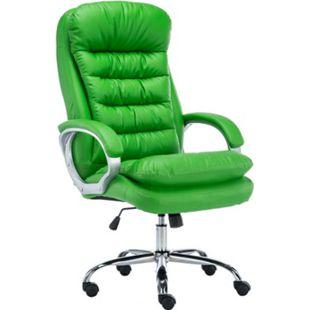 CLP XXL Bürostuhl Vancouver Mit Kunstlederbezug I Drehstuhl Mit max. 235 KG Belastbarkeit I Chefsessel Mit Laufrollen... grün - Bild 1