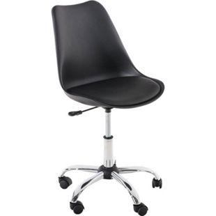 CLP Schreibtischstuhl PEGLEG mit Kunstlederbezug I Höhenverstellbarer Bürostuhl mit Laufrollen I Drehstuhl mit robustem Metallgestell - Bild 1