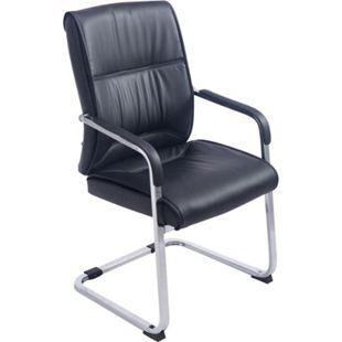 CLP XXL-Freischwinger ANUBIS mit Kunstlederbezug und gepolsterter Sitzfläche I Pflegeleichter Konferenzstuhl mit Armlehne - Bild 1
