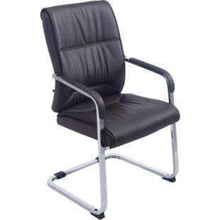 CLP XXL-Freischwinger ANUBIS mit Kunstlederbezug und gepolsterter Sitzfläche I Pflegeleichter Konferenzstuhl mit Armlehne... braun - Bild 1