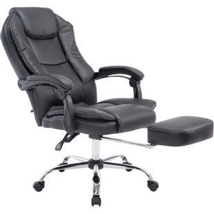 CLP Bürostuhl CASTLE mit Kunstlederbezug I Ergonomischer Bürosessel mit höhenverstellbarer Sitzhöhe I Drehstuhl mit ausziehbarer Fußablage - Bild 1