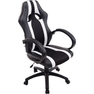 CLP Racing Bürostuhl VETTEL mit Kunstleder-Netzbezug | Gamingsessel mit Sitzhöhenverstellung | Schreibtischstuhl mit Kopfstütze - Bild 1