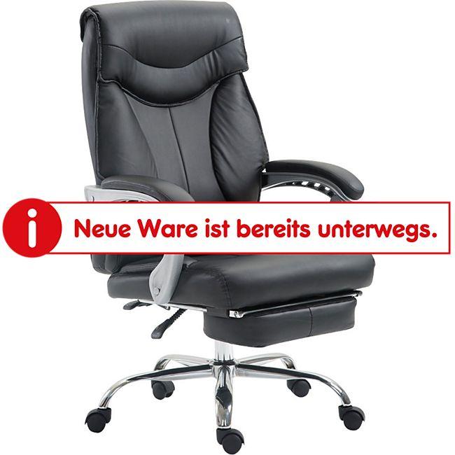 CLP Bürostuhl BIG IOWA mit Kunstlederbezug, Chefsessel mit Fußstütze, max. belastbar bis 136 kg, höhenverstellbar - Bild 1