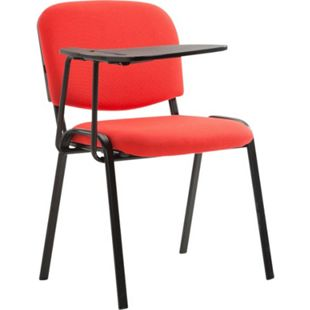 CLP Besucherstuhl KEN mit Klapptisch | Robuster Konferenzstuhl mit gepolsterter Sitzfläche und Stoffbezug... rot - Bild 1