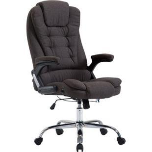 CLP XXL Chefsessel THOR mit Stoffbezug, max. belastbar bis 150 kg, Bürostuhl mit Armlehnen, höhenverstellbar, Drehstuhl mit dickem Polster - Bild 1