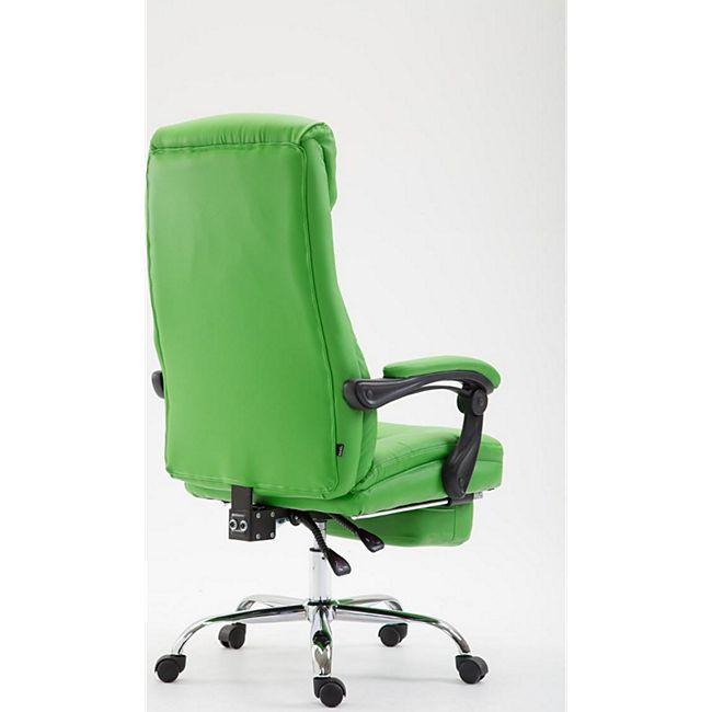 CLP Bürostuhl HADES mit Kunstlederbezug I Chefsessel mit Fußablage I Drehstuhl mit Leichtlaufrollen I In verschiedenen Farben erhältlich