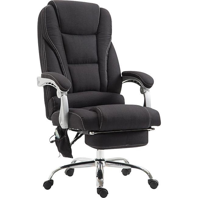 CLP Chefsessel PACIFIC Stoff mit Massagefunktion l Höhenverstellbarer Bürostuhl mit ausziehbarer Fußablage l Max. belastbar bis 150 kg - Bild 1