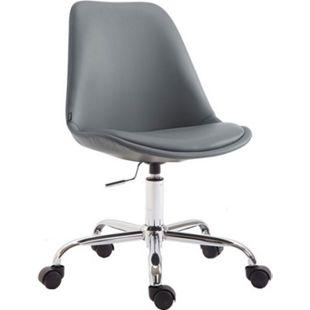 CLP Bürostuhl TOULOUSE mit Kunstlederbezug | Schreibtischstuhl mit Laufrollen | Drehstuhl mit Metallgestell | In verschiedenen Farben erhältlich... grau - Bild 1