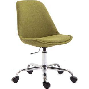 CLP Bürostuhl TOULOUSE mit Stoffbezug | Schreibtischstuhl mit Laufrollen | Drehstuhl mit Metallgestell in Chrom-Optik | Mit Farbwahl... grün - Bild 1