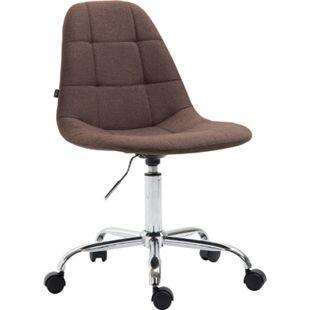 CLP Bürostuhl Reims Mit Stoffbezug I Schreibtischstuhl Mit Gestepptem Sitz I Höhenverstellbarer Arbeitsstuhl Mit Metallgestell - Bild 1