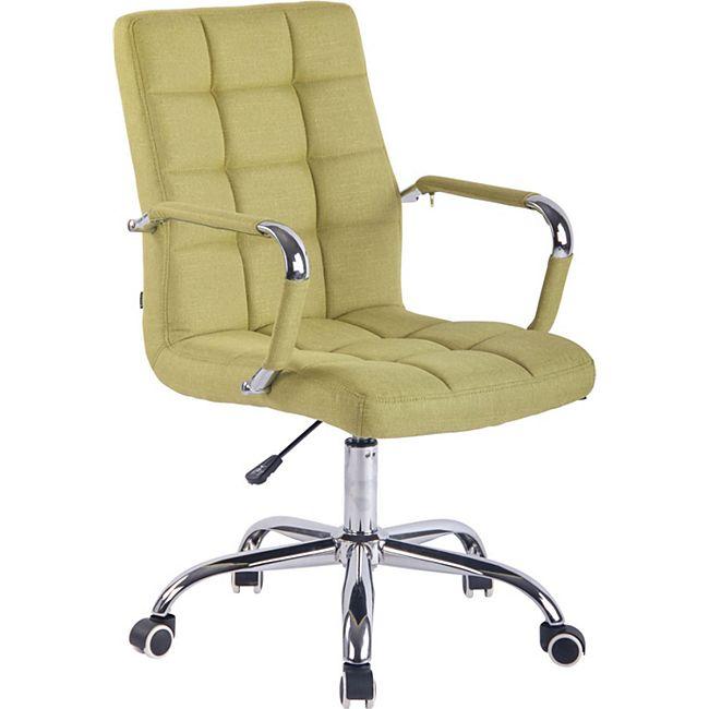 CLP Bürostuhl DELI mit Stoffbezug und hochwertiger Polsterung I Drehstuhl mit höhenverstellbarer Sitzhöhe... grün - Bild 1