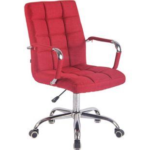 CLP Bürostuhl DELI mit Stoffbezug und hochwertiger Polsterung I Drehstuhl mit höhenverstellbarer Sitzhöhe... rot - Bild 1
