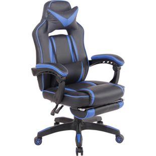 CLP Bürostuhl Heat Mit Kunstlederbezug I Gamingstuhl mit Fußablage I Höhenverstellbar I Computerstuhl mit Armlehnen - Bild 1